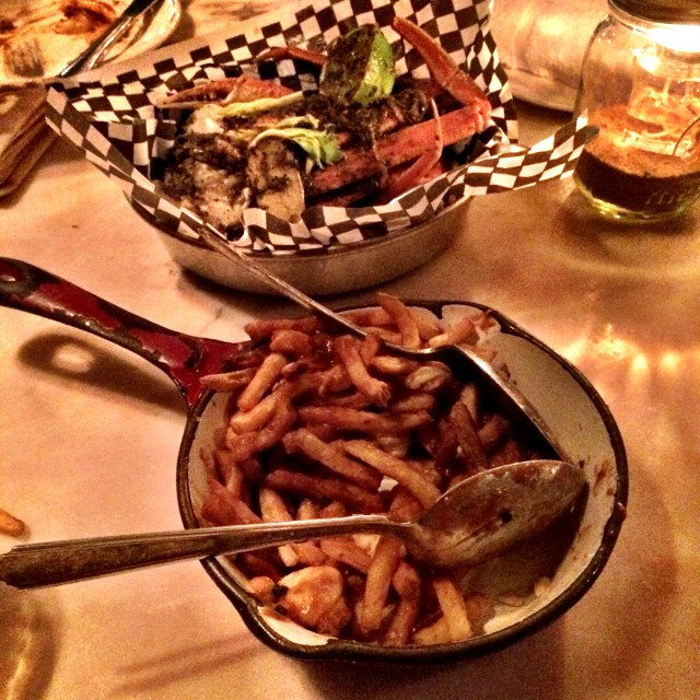 Lobster Poutine and Jerk Crab Legs