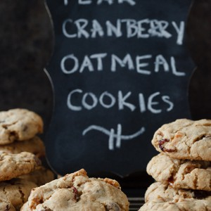 pear cranberry oatmeal cookies