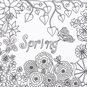 Spring Colouring Sheet