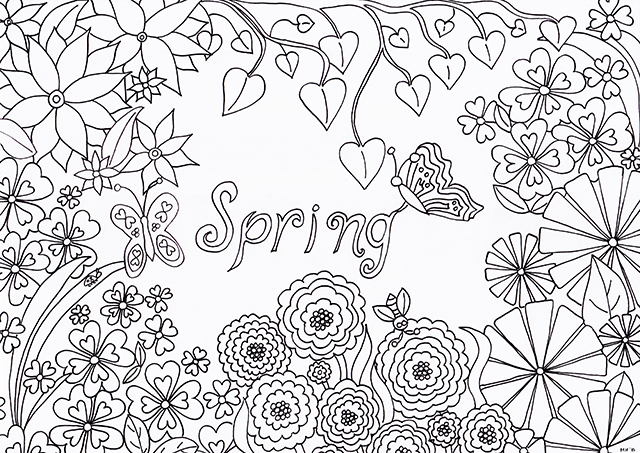 Spring Colouring Sheet