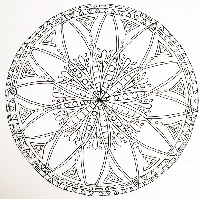 Mandala in progress 2