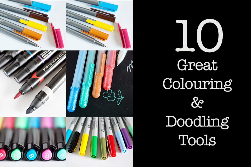 Inside My Studio: Crayons, Markers and Pens For Colouring and Doodling