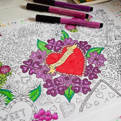 Valentine's Colouring Download | Eyes Bigger Than My Stomach