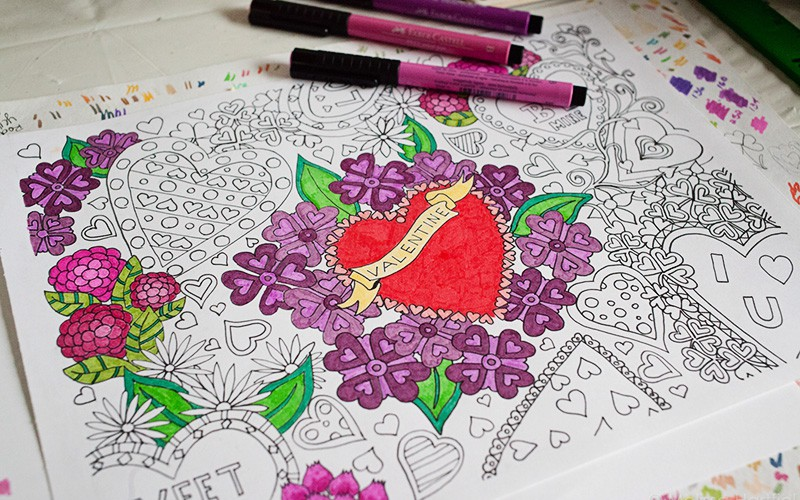 Inside My Studio: A Valentine's Colouring Sheet Download (and a giveaway!)