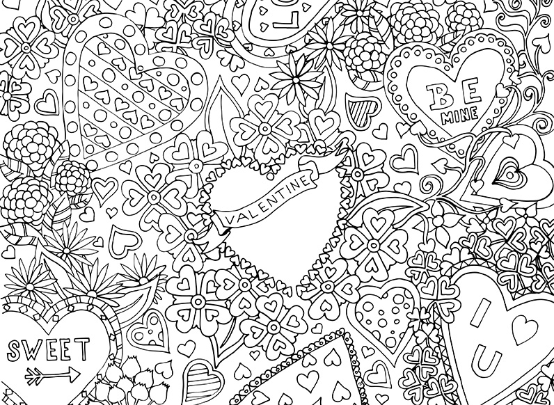 Valentine's Colouring Download