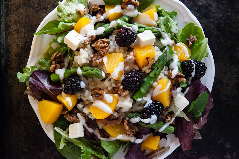 Peach and Barley Salad