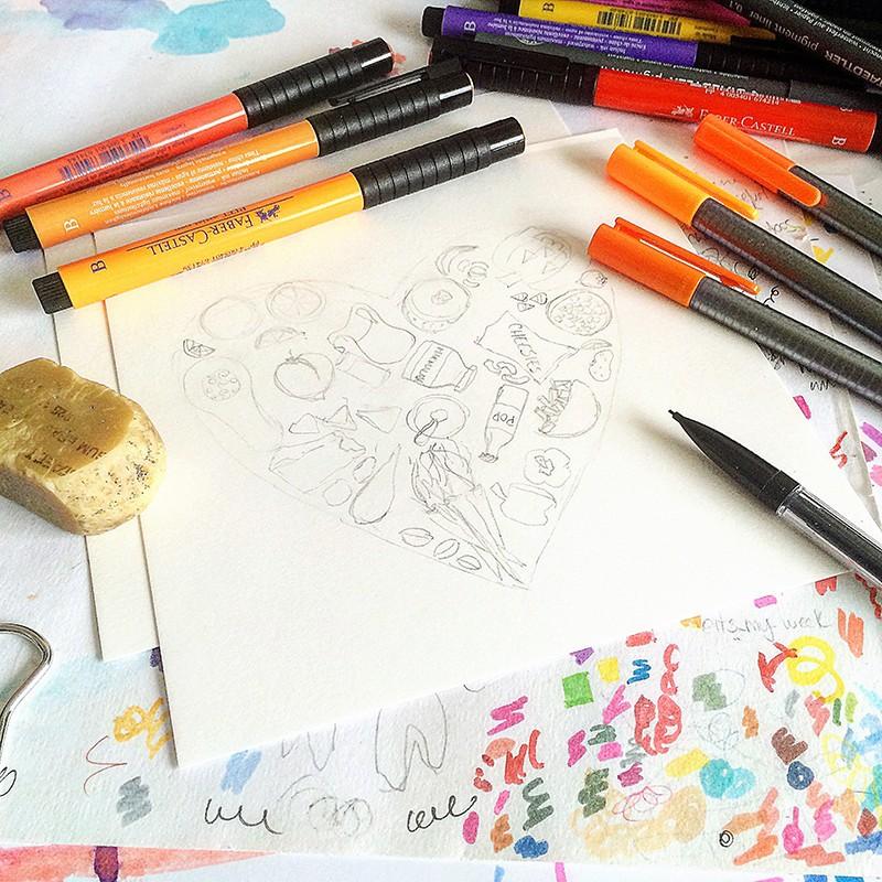 28 Days of Creating Heart Art