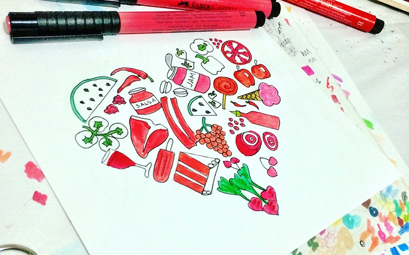 28 Days of Creating Heart Art with #OpusDailyPractice