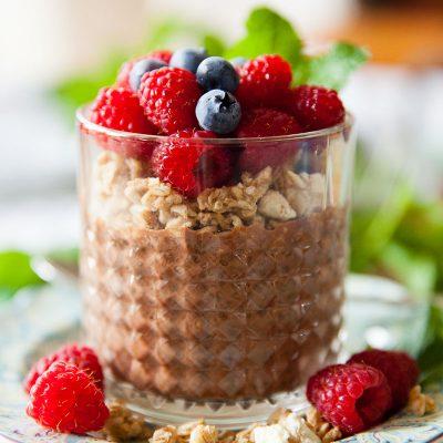 Single Serve Chocolate Chia Pudding