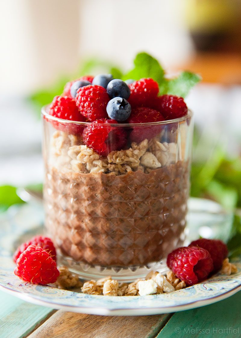 Single Serve Chocolate Chia Pudding