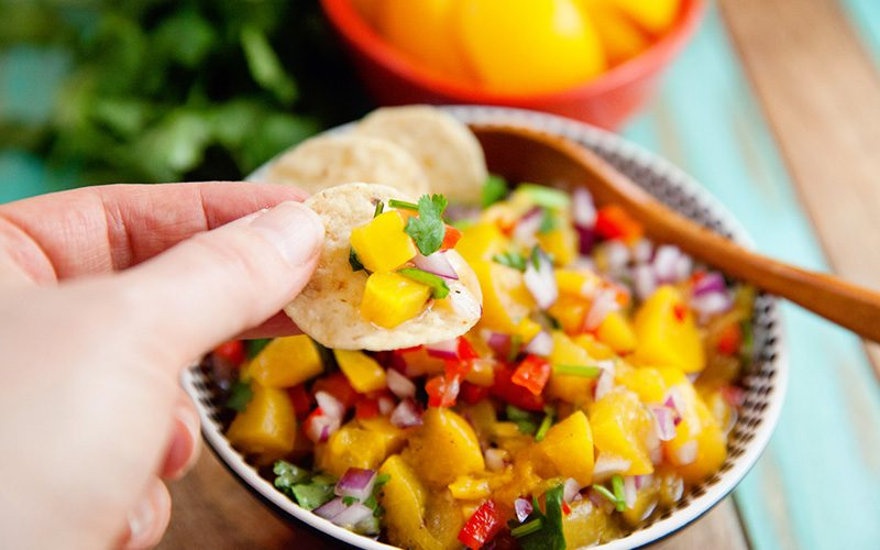 A Quick and Easy Peach Salsa