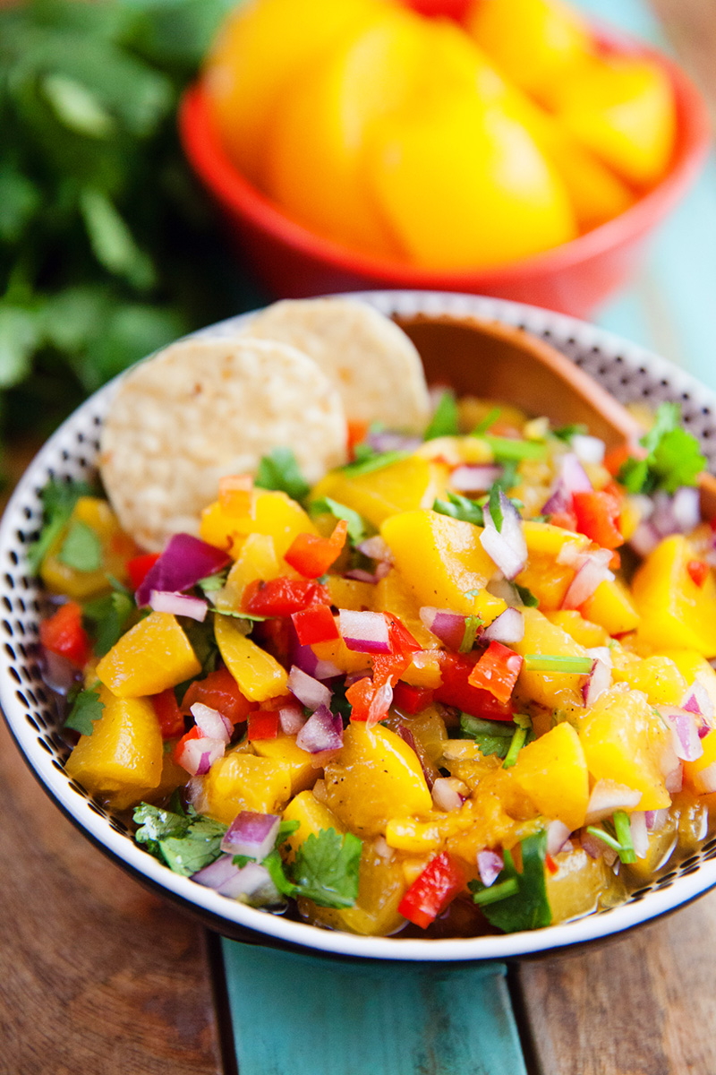 Quick and Easy Peach Salsa