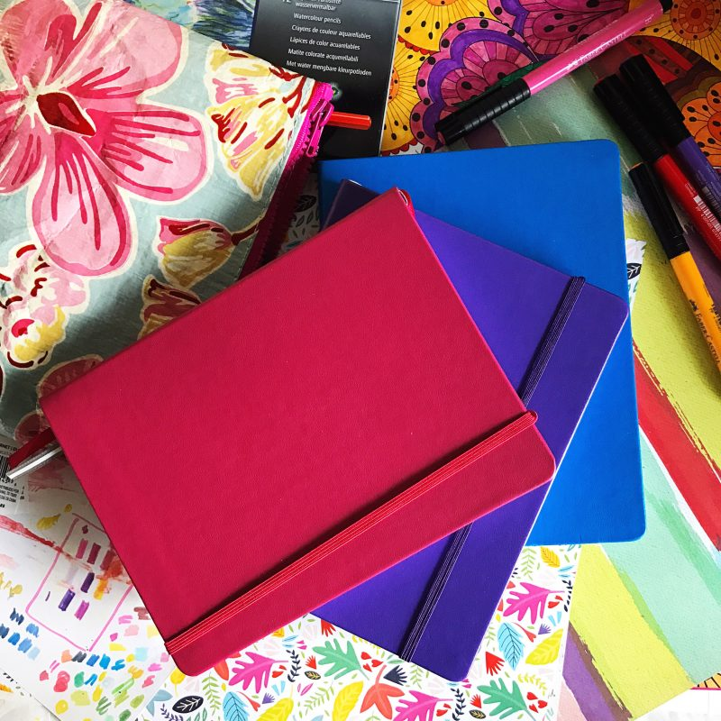 Colourful Journals (Pink, Purple and Blue)