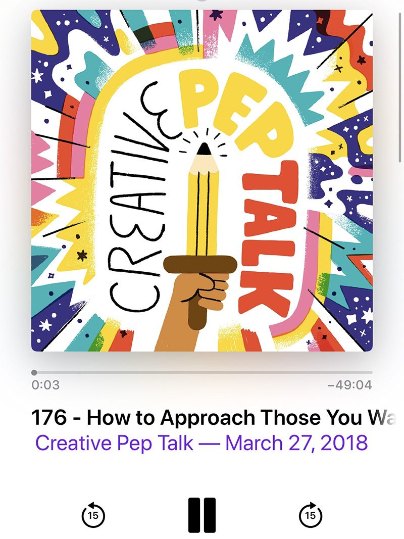 The Creative Pep Talk Podcast
