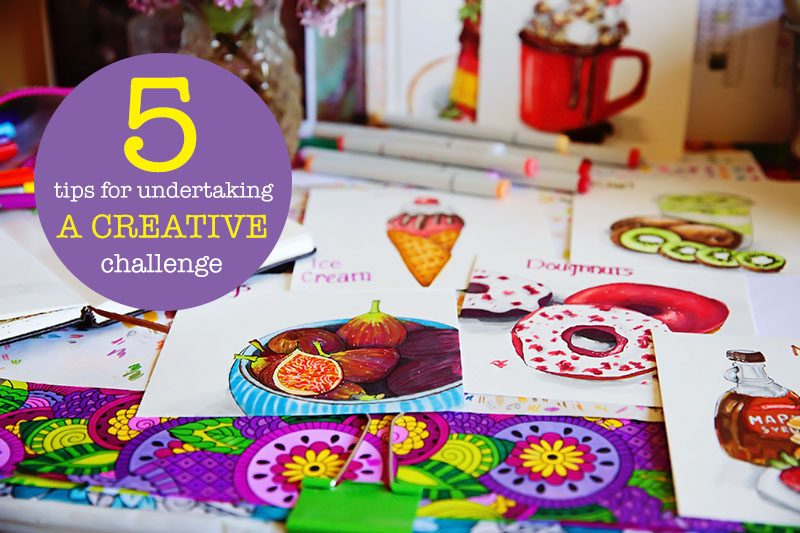 5 tips for undertaking a daily creativity challenge | eyes bigger than my stomach