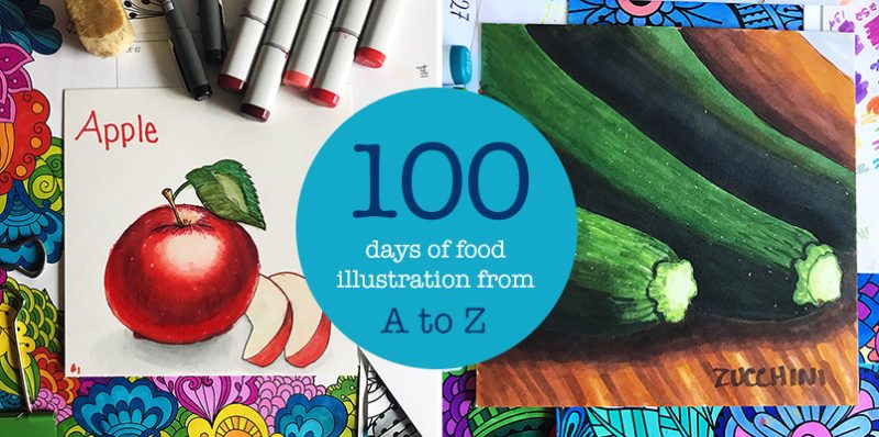 100 Days of Food Illustration From A-Z