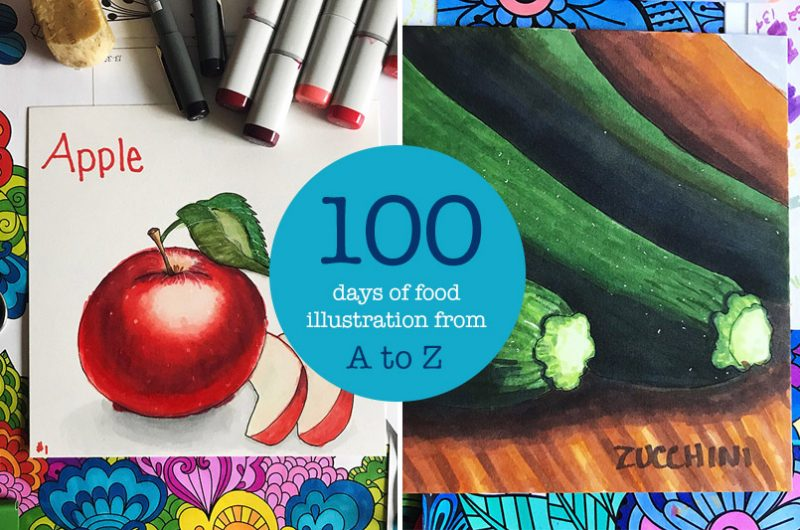 100 Days of Food Illustration