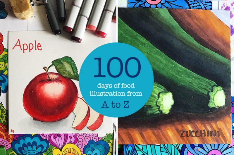 100 Days of Food Illustration