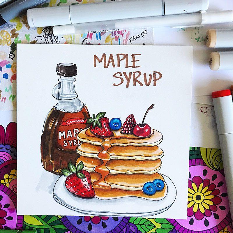 Maple Syrup Illustration