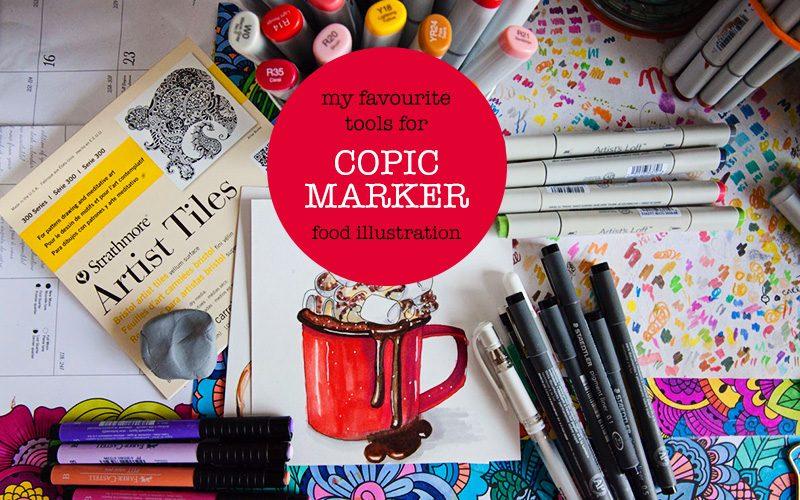 My Copic Marker Food Illustration Tools