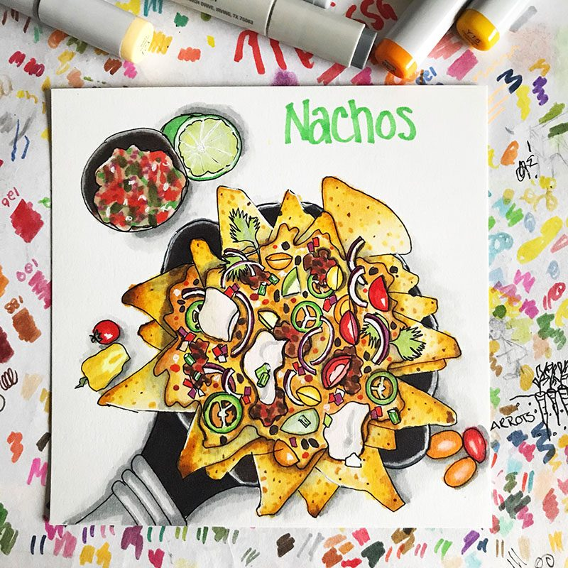 Nachos Illustration