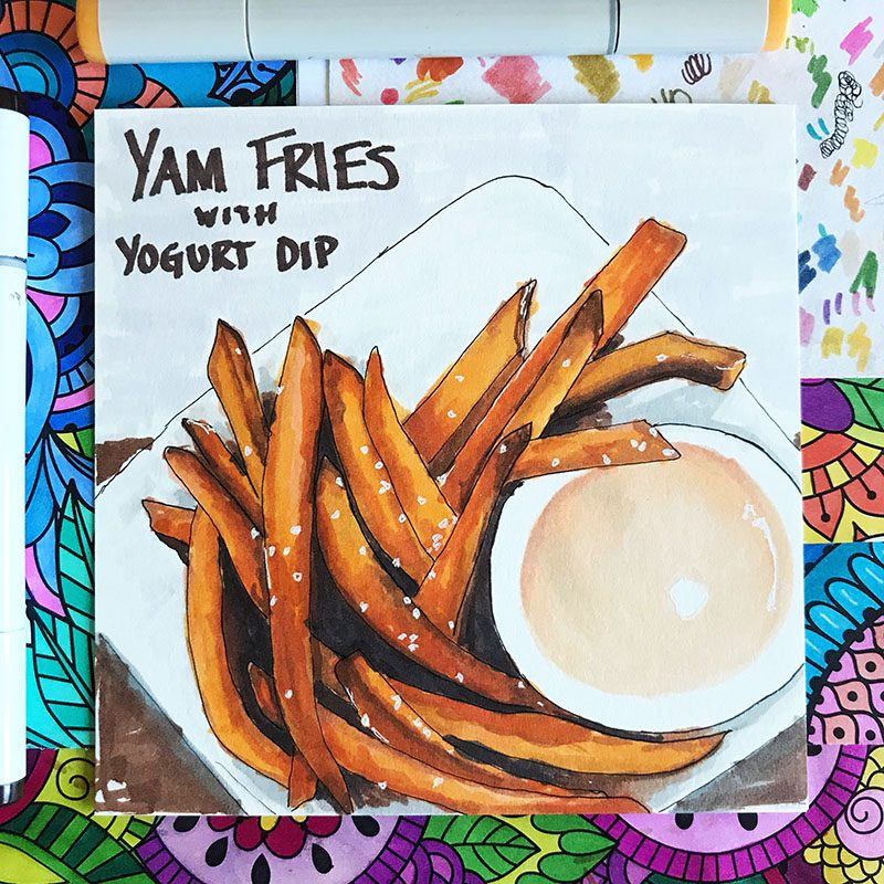 Yam Fries Illustration