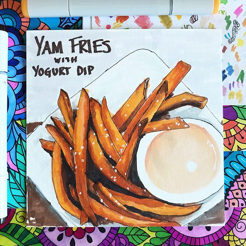Yam Fries Illustration